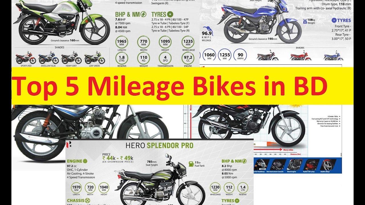 Top 5 Mileage Bikes In Bangladesh Hero Bajaj Tvs 100 Cc