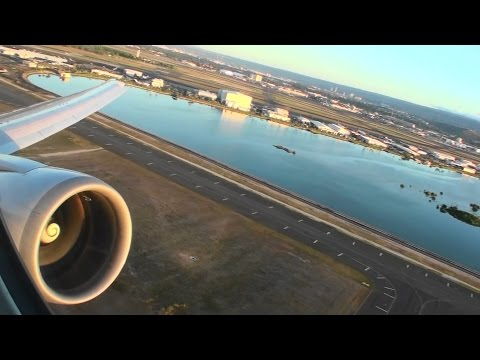 Absolutely Spectacular First Class HD Boeing 767-400ER Takeoff From Honolulu Hawaii!!!