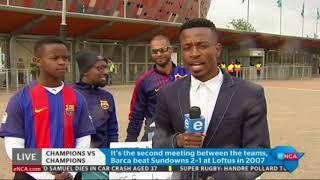 Update ahead of Barcelona, Mamelodi Sundowns match