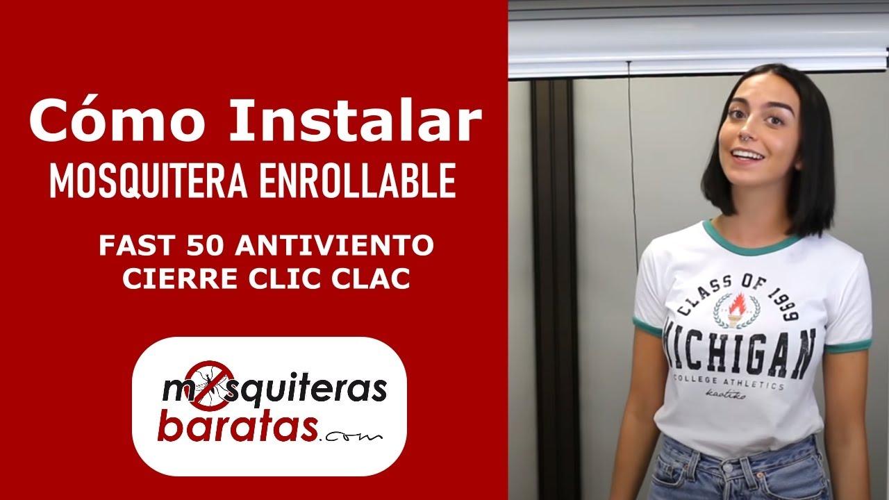 Instalación Mosquitera Enrollable Antiviento Fast 50 Versión