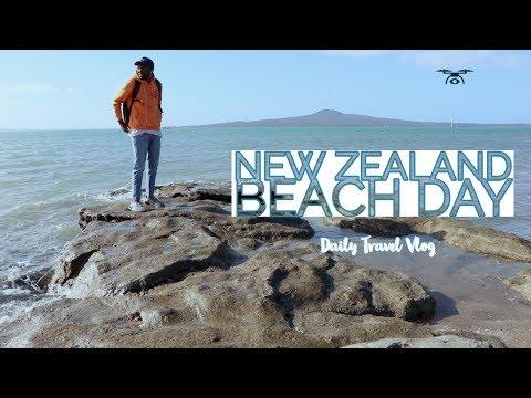 BEACH DAY NEW ZEALAND: Tour Sunny Auckland! World Travel: Day 71