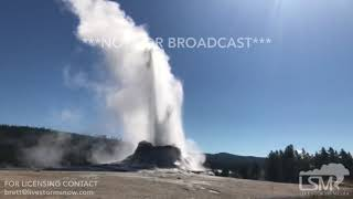 10-13-2017 Yellowstone National Park, WY - File Video