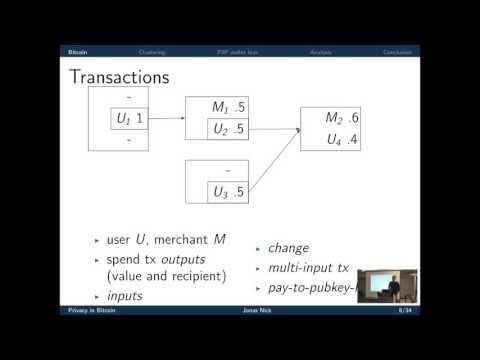 Bitcoin Privacy: Theory and Practice - Jonas Nick (Blockstream) - Zürich