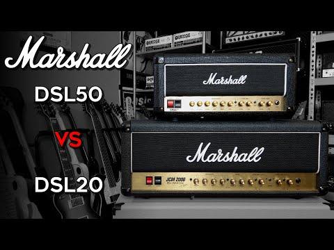Marshall DSL 50 vs DSL 20 (demo/comparison)