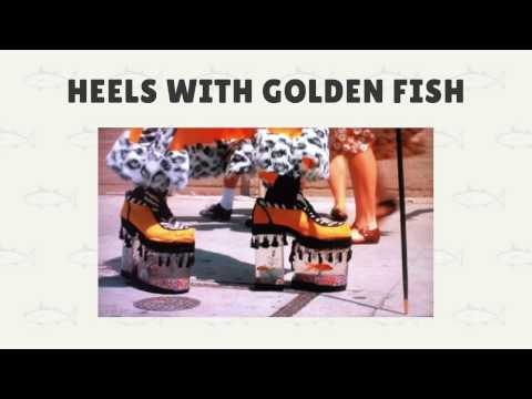 Strange Shoes With Fish In Them.