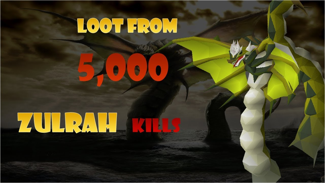 Osrs Loot From 5000 Zulrah Kills 280 Hours