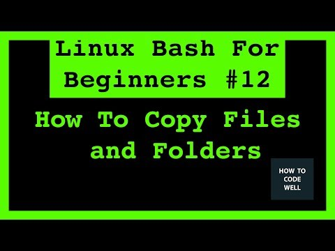 Linux Tutorial 12 How To Copy Files And Folders