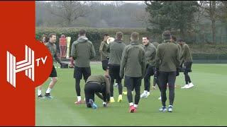 Arsenal train ahead of Europa League clash against Rennes