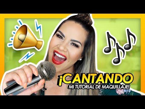 CANTANDO MI TUTORIAL de Maquillaje 😁| Mytzi Cervantes