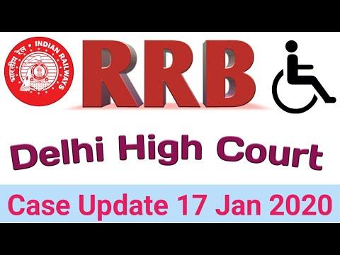 RRB Group D 2018 PWD Delhi High Court Case Update 2020.