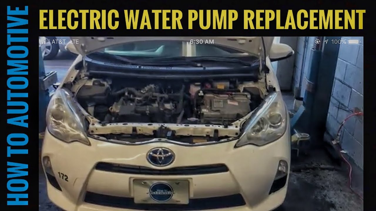How To Replace The Electric Water Pump For The Engine On A 2012