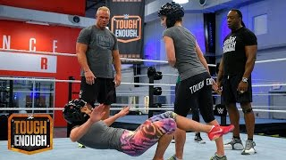 Sara gets slammed by Billy: WWE Tough Enough, July 14, 2015
