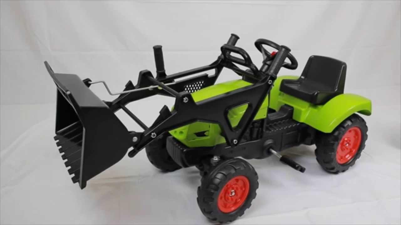 Трактор педальный Falk с прицепом и ковшом CLAAS ARION - YouTube