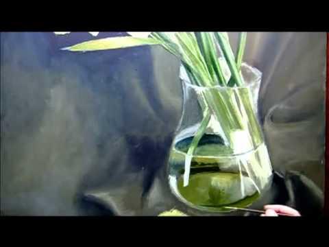 Como Pintar Flores Al óleo Florero Parte 4
