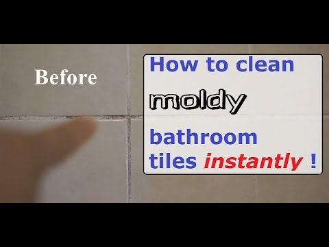 How to clean moldy Bathroom Tiles instantly with bleach