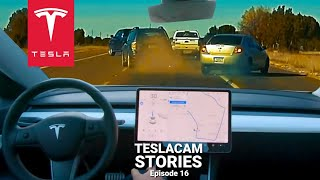 TESLA AUTOPILOT PREDICTS CRASH COMPILATION   TESLACAM STORIES #16