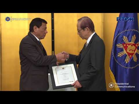 Conferment of Gawad Sikatuna on Honorable Takeo Fukuda 10/31/2017