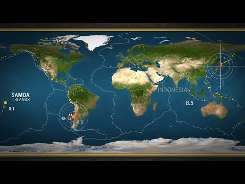 Animation of where the largest earthquakes of the past 100 years have struck