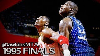 Hakeem Olajuwon vs Shaquille O'Neal BIG-Men Duel 1995 Finals Game 4 - Shaq With 25, Hakeem With 35!