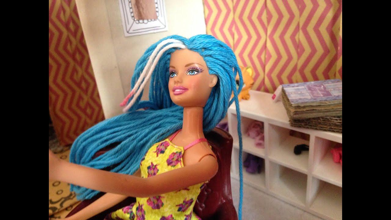 comment remplacer les cheveux de barbie avec de la laine. Black Bedroom Furniture Sets. Home Design Ideas