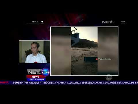 Jokowi Perintahkan Semua Jajaran Pemerintah Tangani Korban Gempa & Tsunami Palu-NET24