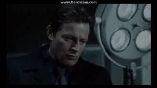 момент прослушивания кассеты Хоффманом из желудка Пилы из фильма Пила 4