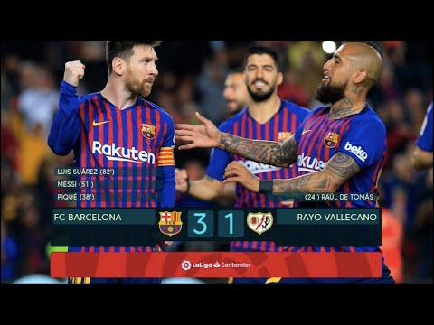 Barcelona vs Rayo Vallecano 3-1 - Highlights & All Goals - 09-03-2019 HD thumbnail
