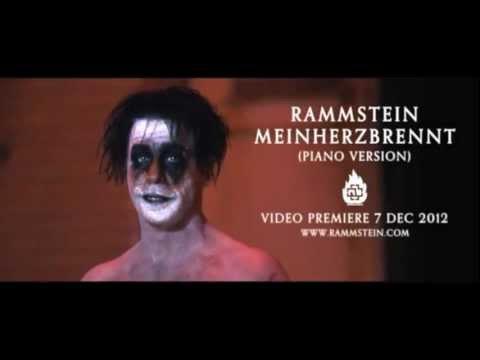Rammstein - Mein Herz Brennt - Piano Version [Videoclip Promo 1]