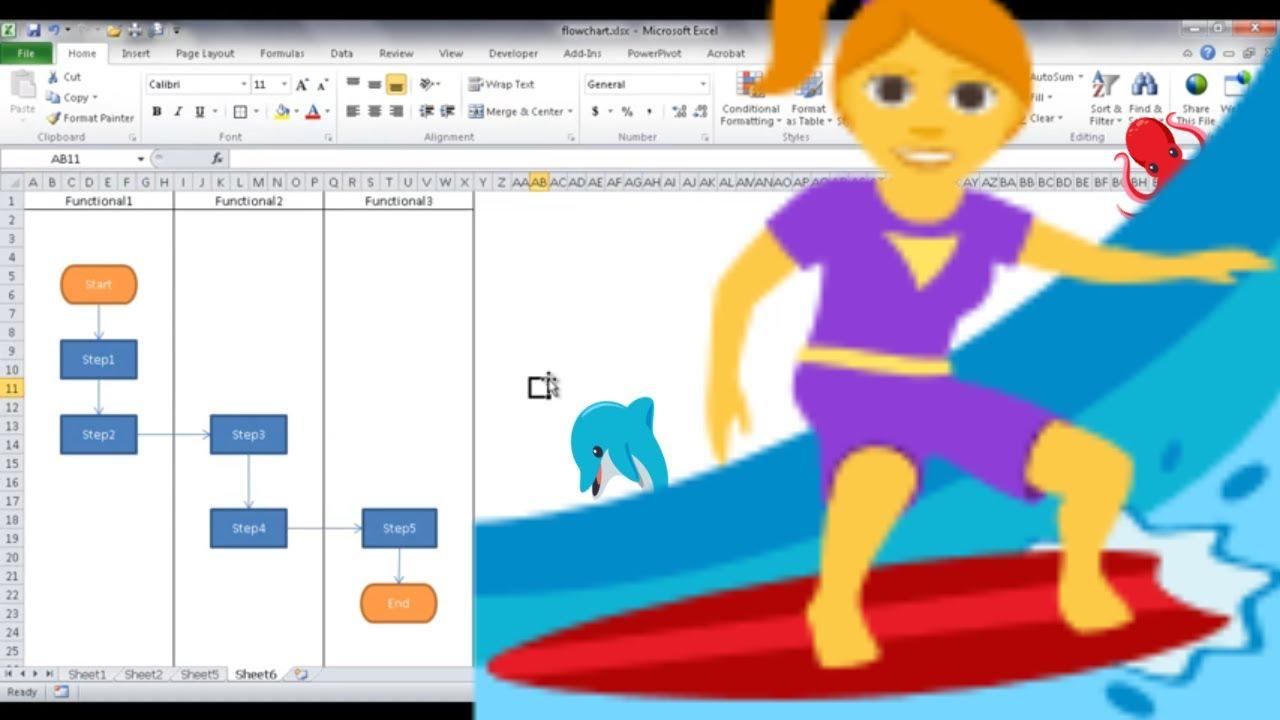 create a flowchart in excel [ 1280 x 720 Pixel ]
