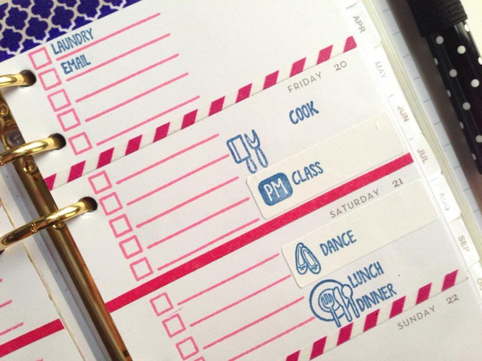 basic stamp techniques with sweet stamp shop planner stamps
