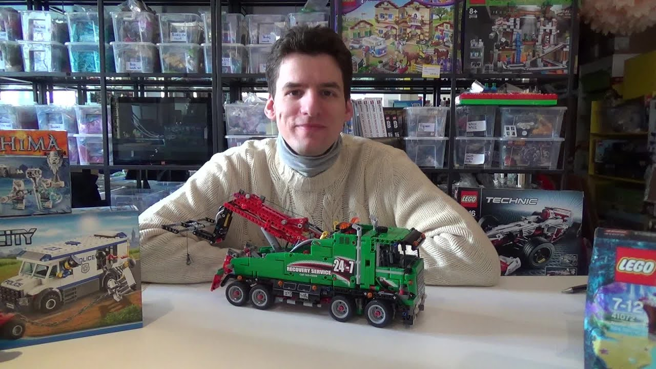 lego technic 42008 service truck abschlepptruck youtube. Black Bedroom Furniture Sets. Home Design Ideas