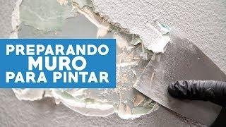 ¿Cómo preparar un muro para pintar?