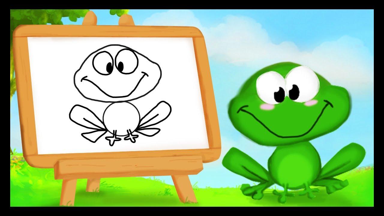 Comment dessiner une grenouille youtube - Comment dessiner une sorciere facilement ...