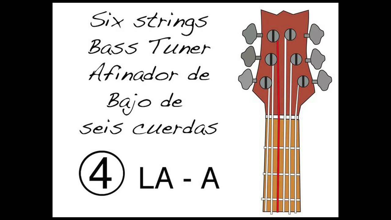 afinador de bajo de 6 cuerdas 6 strings bass tuner youtube. Black Bedroom Furniture Sets. Home Design Ideas