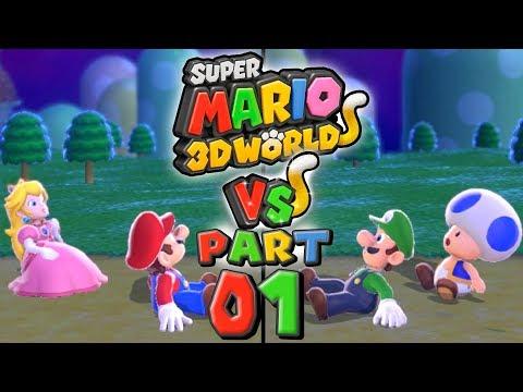 Super Mario 3D World VS - Part 1: LET THE RACE BEGIN! (4 Player)