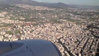 Landing from London to Thessaloniki - HD