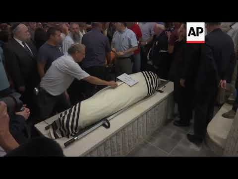 Funeral For Israeli Settler Stabbed To Death In West Bank