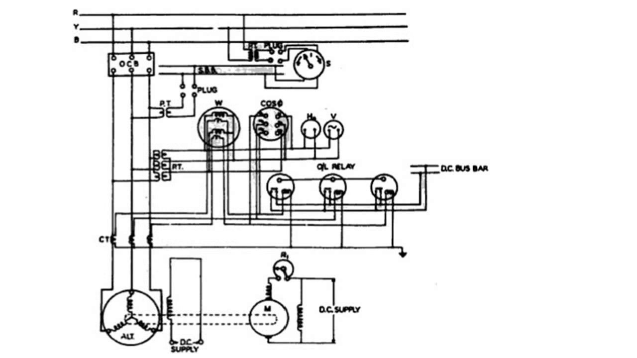 panel wiring diagram of an alternator youtube rh youtube com automotive alternator circuit diagram alternator charging circuit diagram