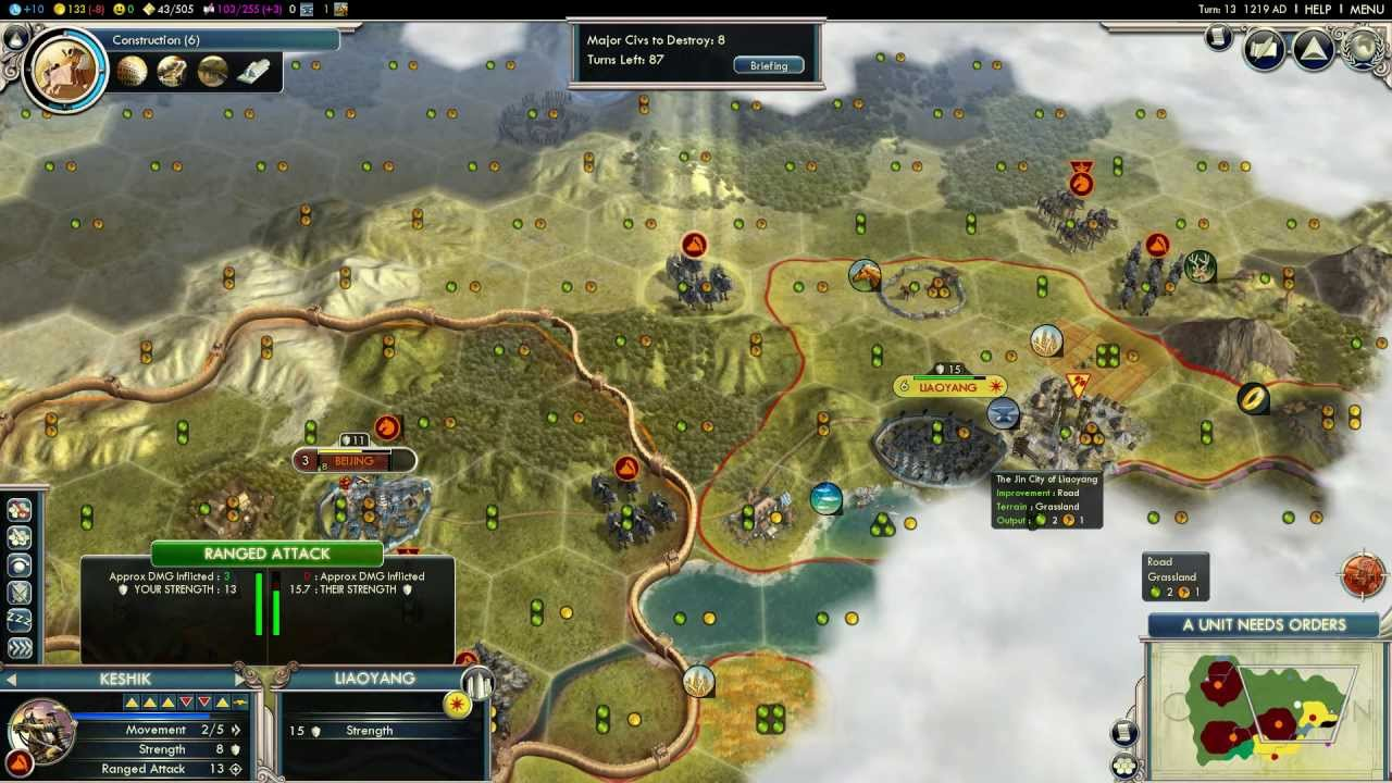 Civilization Mongol Scenario On Deity Of YouTube - Japan map civ 5