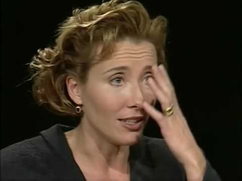 Emma Thompson Job İnterview On Charlie Rose 1994 & Psycholog