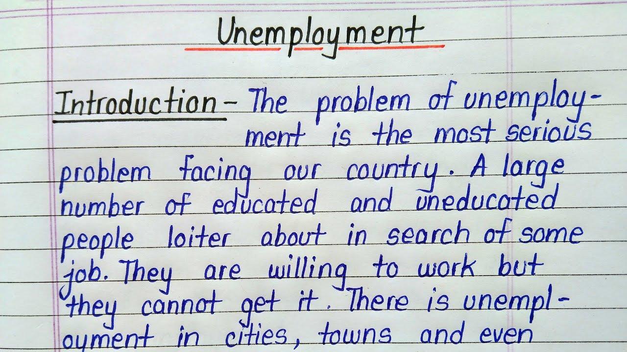 essay english unemployment