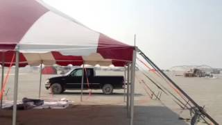 One Man Tent Setup @ Burning Man