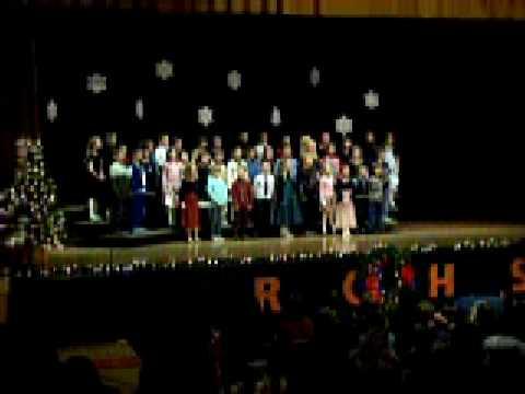 Bradley Heidemann with the 2nd Graders singing Noel Rogers City Elementary School Christmas Program