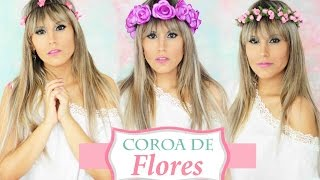 DIY: como fazer COROAS DE FLORES, 3 diferentes tipos