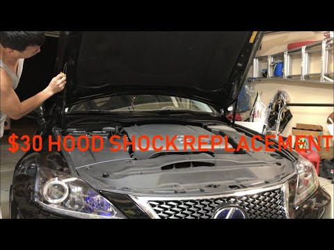 Lexus IS250 IS350 2IS $30 Hood Shock Install DIY