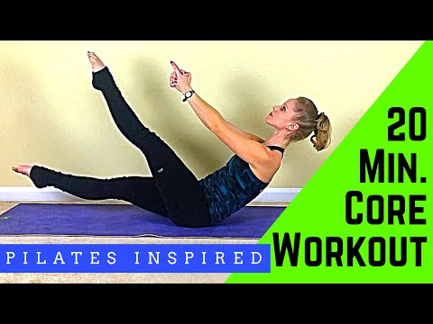 20 Min. Pilates Inspired Core Workout- Slim & Trim Your Waistline