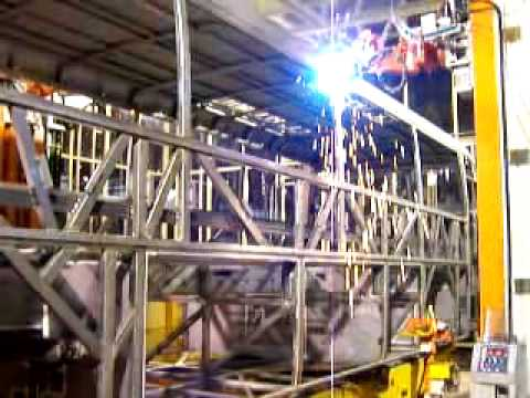 How To Arc Weld >> Robotic arc welding for bus frame - YouTube