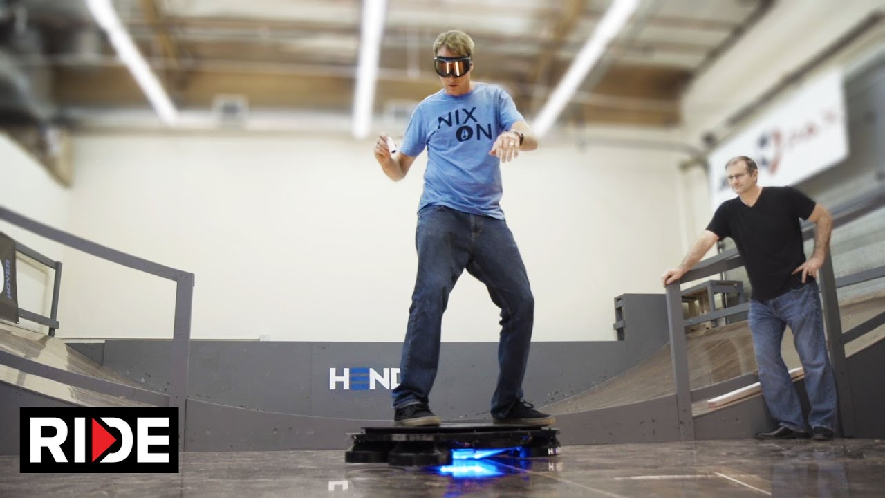 Tony Hawk Rides World's First Real Hoverboard  - Hendo Hover