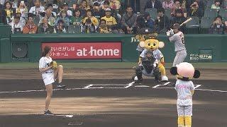 稲村亜美、自己最速タイの103キロ!「阪神対巨人戦」始球式で