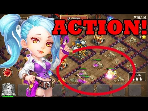 WAR ROSE NEW HERO IN ACTION! TOTAL MADNESS! -CASTLE CLASH